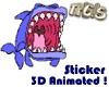 Shark Animated Sticker