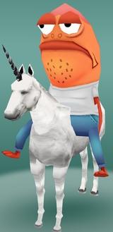 Fish on a Unicorn Fun Funny Halloween Costume Hilarious LOL